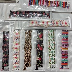 38mm S/M watch band - leopard, cactus, bull skull
